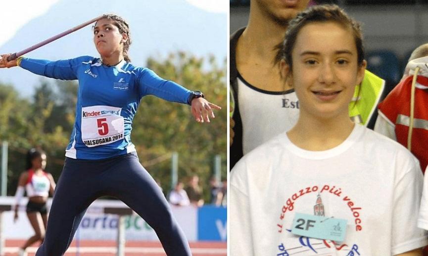 Carolina Visca e Valeria Paccagnella record italiani nel Giavellotto e negli 80 ostacoli