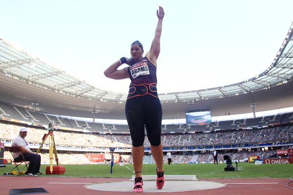 Parigi:  è tornata  Valerie Adams, la lanciatrice di peso  Campionessa Mondiale e Olimpica