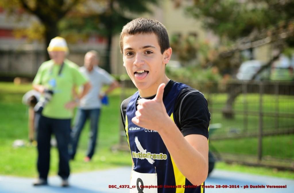 Risultati prima giornata campionati Italiani cadetti: Paissan lampo negli 80 metri