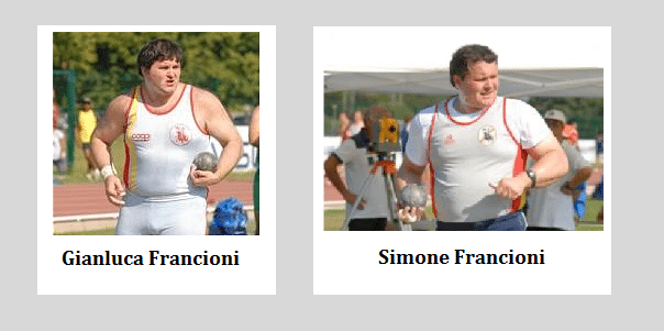 Processo Francioni: testimonia oggi il fratello Simone pluricampione di Lancio del peso.