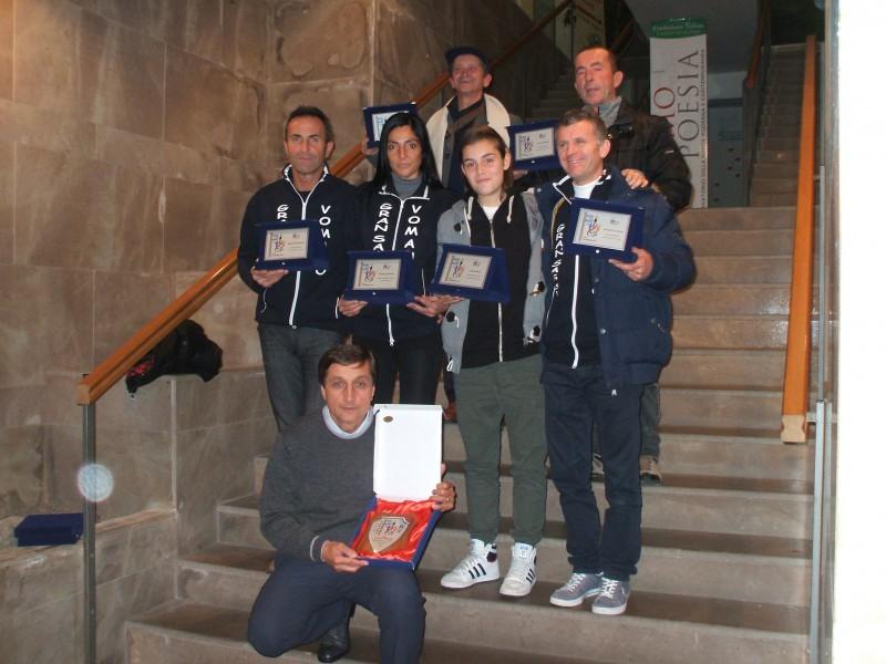 l'Atletica Vomano premiata dal Coni per la promozione in Serie Argento