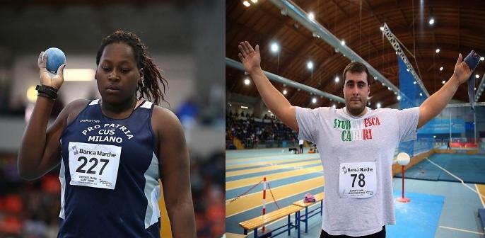 Record Italiano Indoor per Sidney  Giampietro e Sebastiano  Bianchetti nel peso