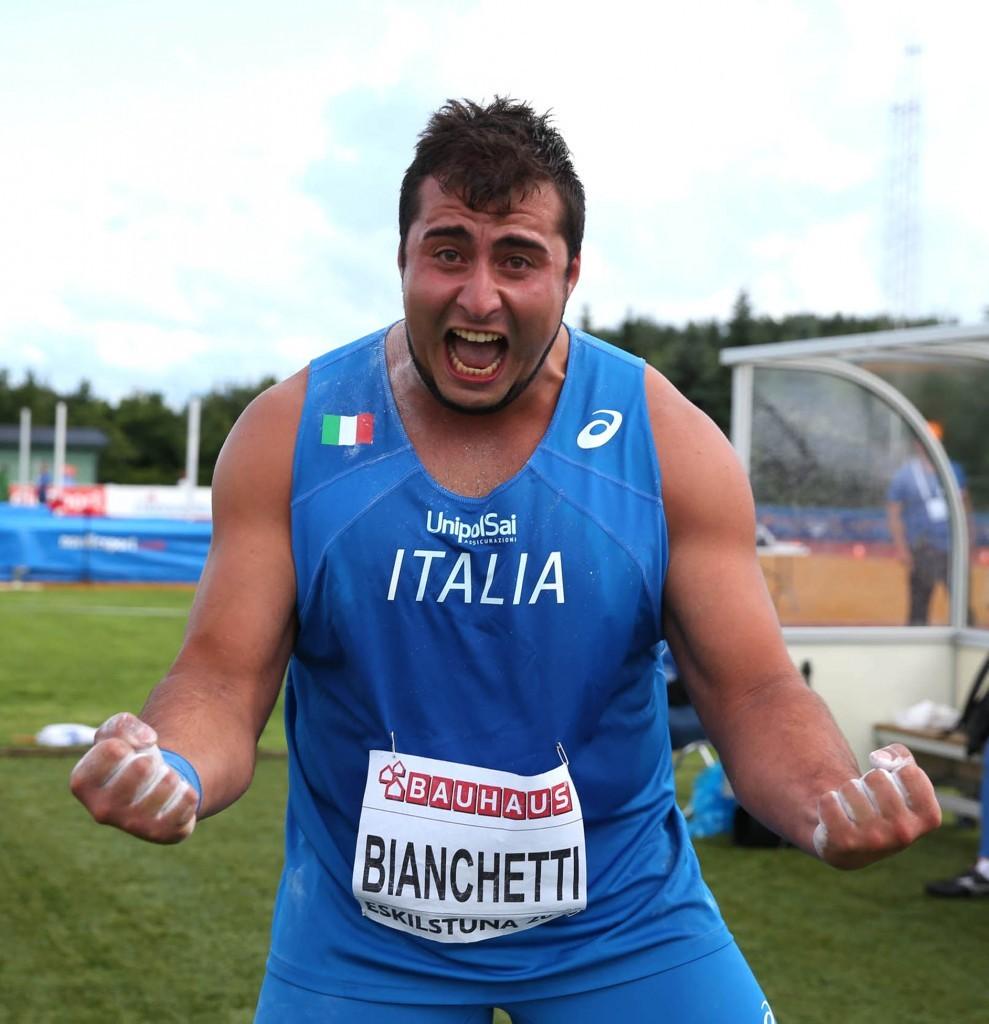 Sebastiano  Bianchetti e Bonvecchio infiammano la coppa europa di lanci- il video-