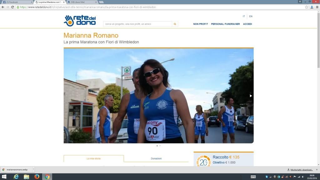 Mariana Romano: I miei primi quarantaduechilometricentonovantacinquemetri per Fiori di Wimbledon