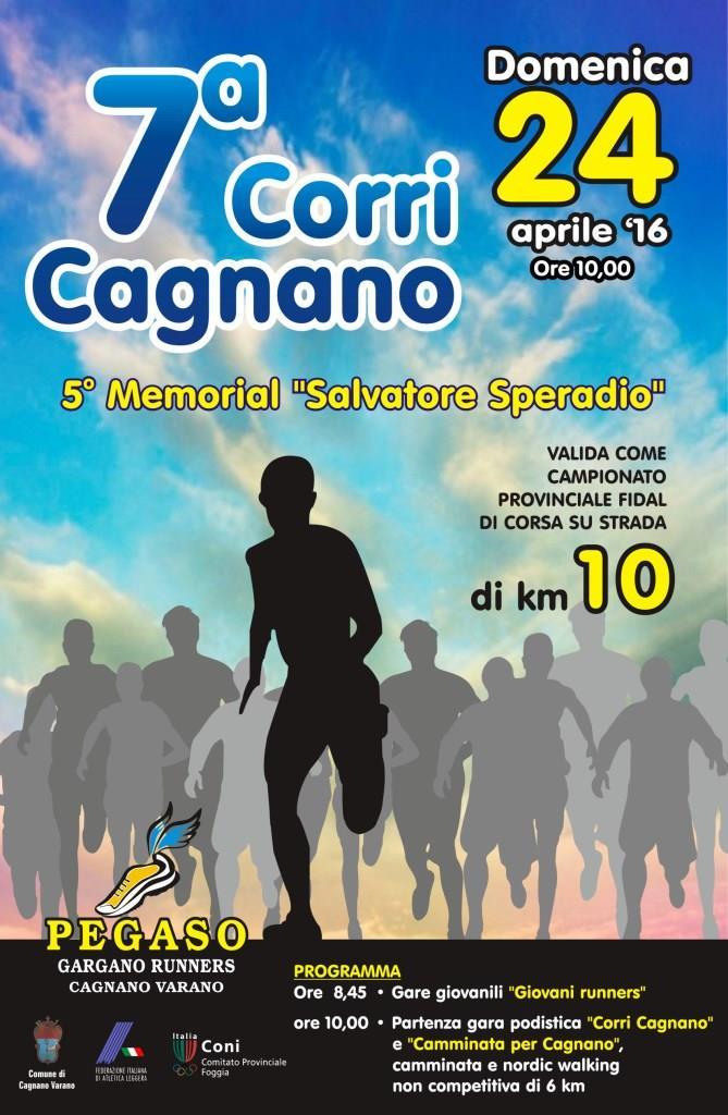 Si svolgerà domenica 24 aprile a Cagnano Varano il Campionato Provinciale Master di corsa su strada, sulla distanza di 10 km.