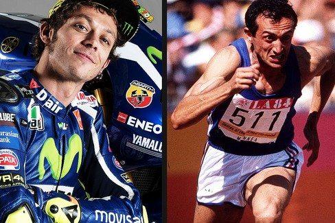 Pietro Mennea si arrende solo a Valentino Rossi  tra le leggende dello sport della Gazzetta dello Sport
