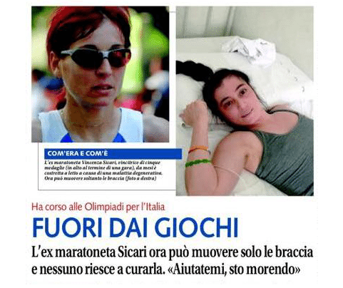 Runner ed ultrarunner si mobilitano per Vincenza Sicari, ex maratoneta -di Matteo SIMONE