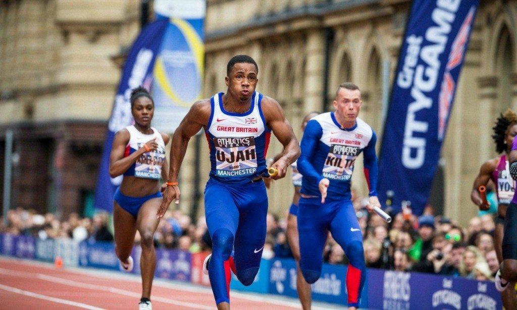 A Manchester si corrono i 100 metri in strada con la diretta televisiva della BBC 2!
