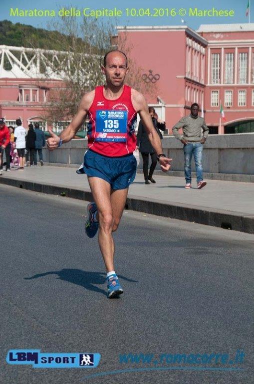 Antonio Gallone: fa un bell'effetto arrivare primo M50 alla maratona di Roma- di Matteo SIMONE