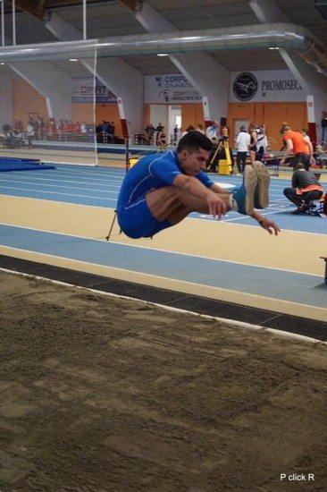 Gran balzo dello junior Gabriele Chilà nel lungo a m, 7,72, 6 centimetri dal record italiano