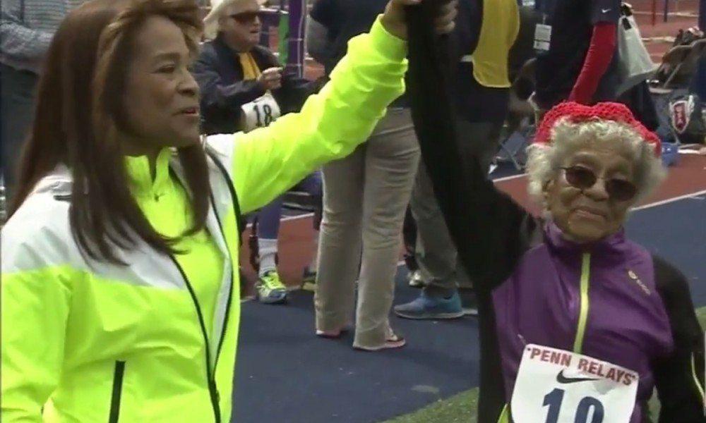 A 100 anni Ida Keeling corre I 100 metri in  1: 17.33, Record del Mondo