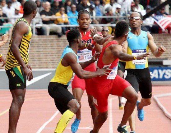 """La Giamaica travolge gli Stati uniti nella 4x100 al  Penn Relays """"Usa contro il Mondo"""""""