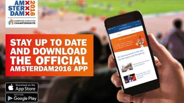 """Ecco dove scaricare la """"App"""" ufficiale degli  'Europei di Amsterdam2016'"""