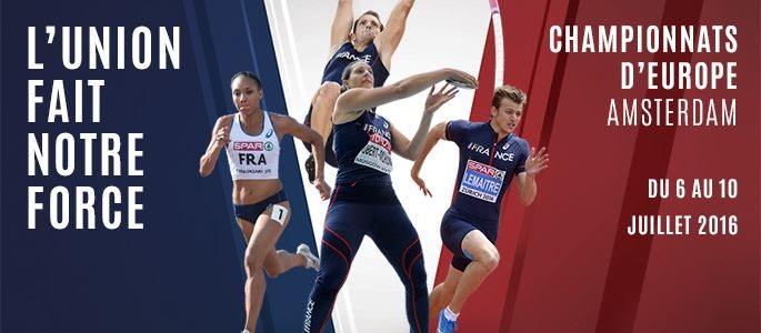 Sono 72 gli atleti francesi convocati per gli Europei di Amsterdam 2016
