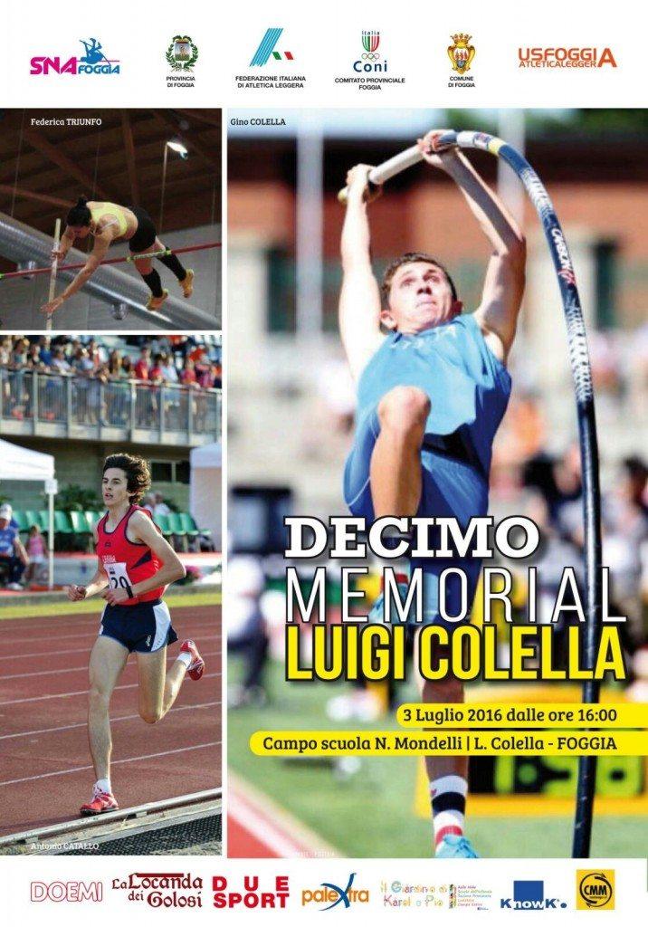 X° Memorial Colella, domenica 3 luglio a Foggia