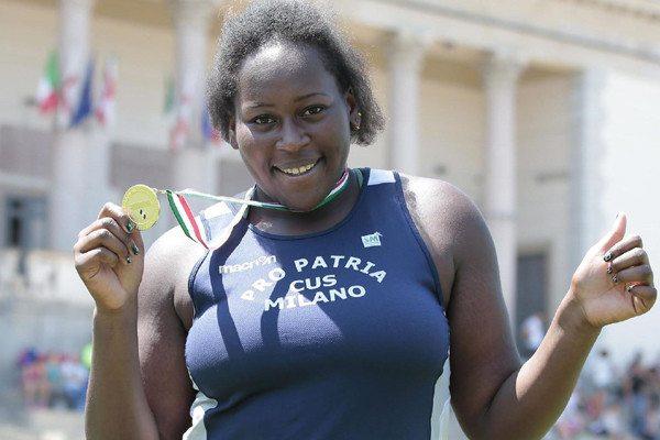 SydneyGiampietro a Jesolo record italiano nel getto del peso