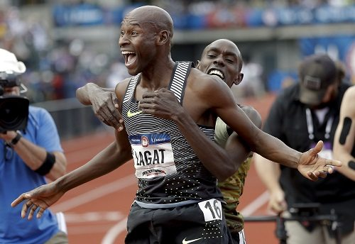 Bernard Lagat wins US 5000m Trials