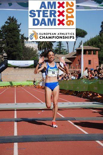 Veronica Inglese ottimo sesto posto nei 10.000 metri ad Amsterdam con il personale