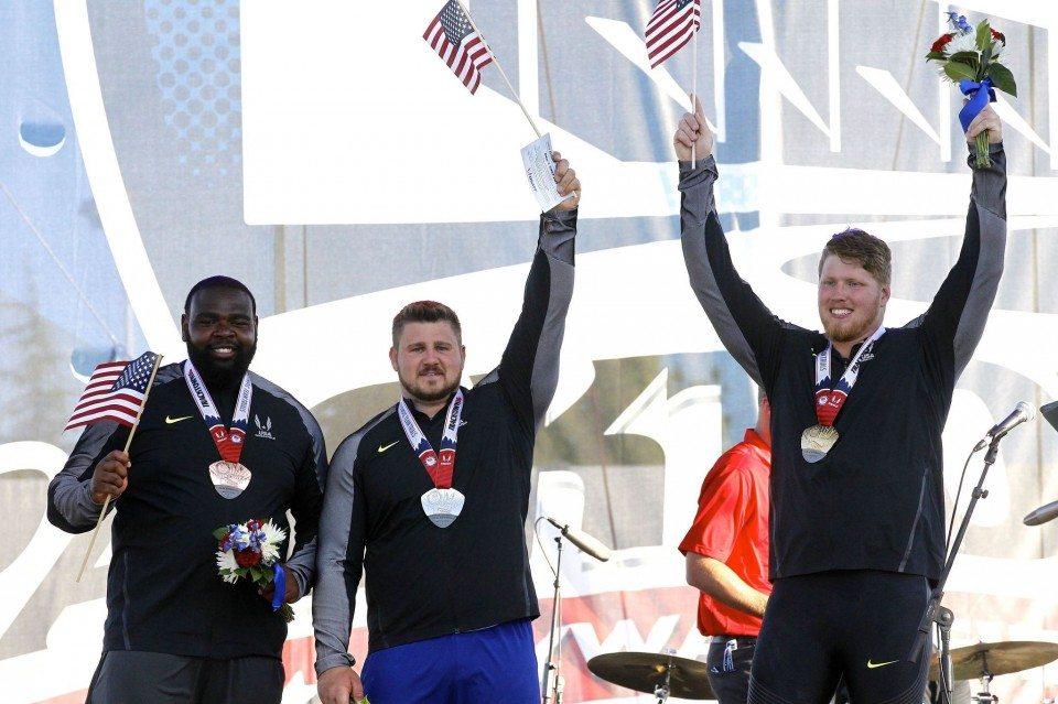 Risultati Trials Usa 2016: sorpresa nel getto del peso,  Kovacs battuto da  Crouser che spara a m.22,11