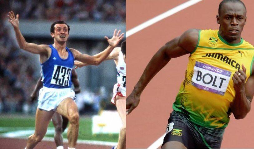 I 100 e i 200metri, la  progressione dei record del mondo da Pietro Mennea a  Usain Bolt