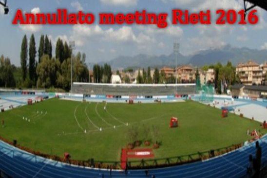 Terremoto, atletica: annullato il meeting di Rieti, fondi per la tragedia, un esempio per gli altri sport