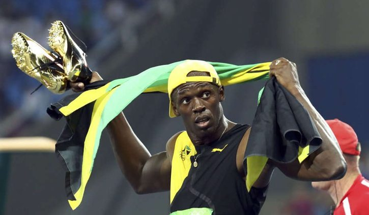 Scarpa di Usain Bolt venduta all'asta su internet all'incredibile somma di 16.000 dollari