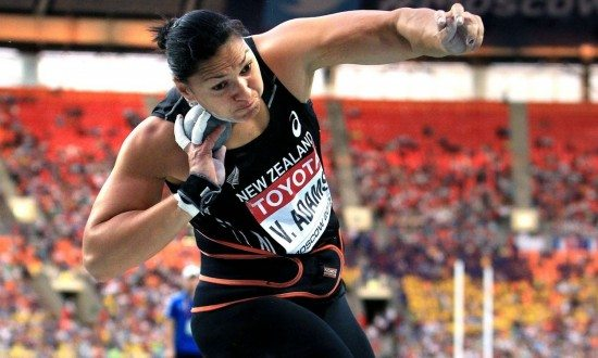 Valerie Adams vince il getto del peso a Bad Kostritz in Germania
