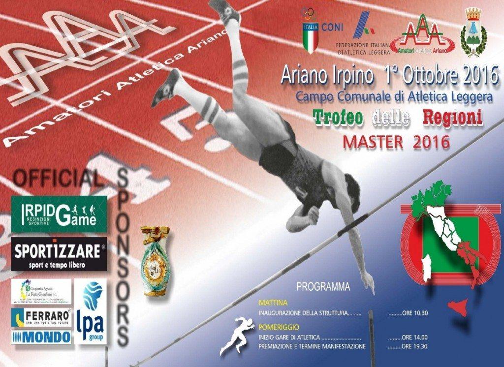 Trofeo delle Regioni Master su Pista di Ariano Irpino: Il programma delle gare di Sabato 1° Ottobre