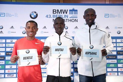 Wilson Kipsang pronto per battere il record mondiale nella maratona  BMW  di Berlino