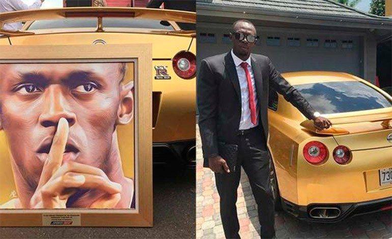 Usain Bolt mostra su Instagram la sua auto tutta d'oro