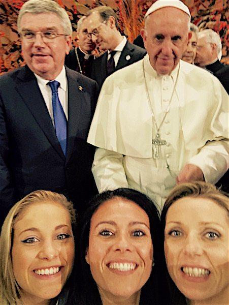 Fede e sport, Giusy Versace balla davanti al Papa