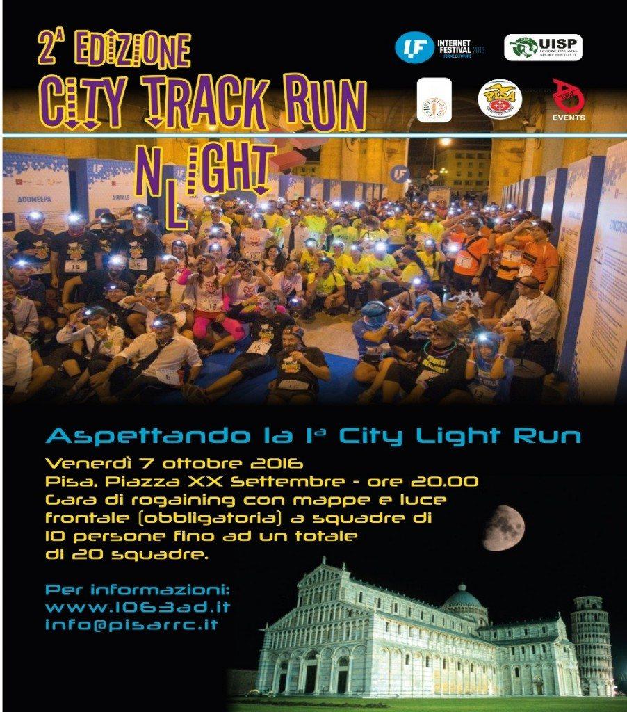 Maratona di Pisa: In attesa  del 18 dicembre, venerdi c'è la City Track Run