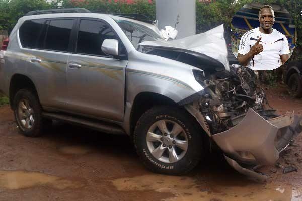 Momenti di spavento per Julius Yego, esce illeso da un incidente automobilistico