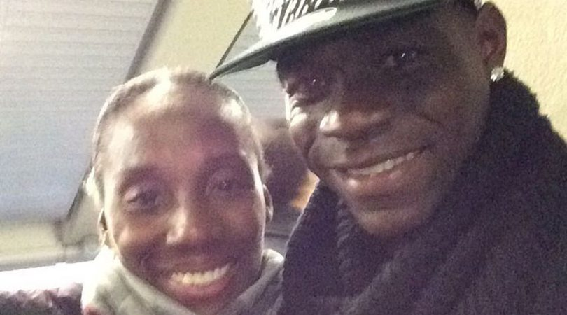 Fiona May incontra Mario Balotelli a Firenze