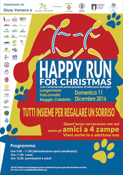 "Giusy Versace lancia la ""Happy Run for Christmas"""