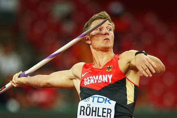 Thomas  Rohler contro i migliori giavellottisti cechi a  Ostrava
