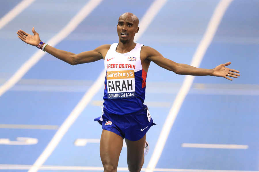 Mo Farah  gareggerà al Meeting Indoor di Birmingham prima dei  Campionati mondiali