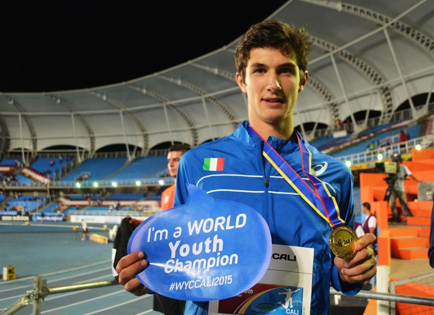 Stefano Sottile, campione mondiale allievi di salto in alto passa alle Fiamme Azzurre