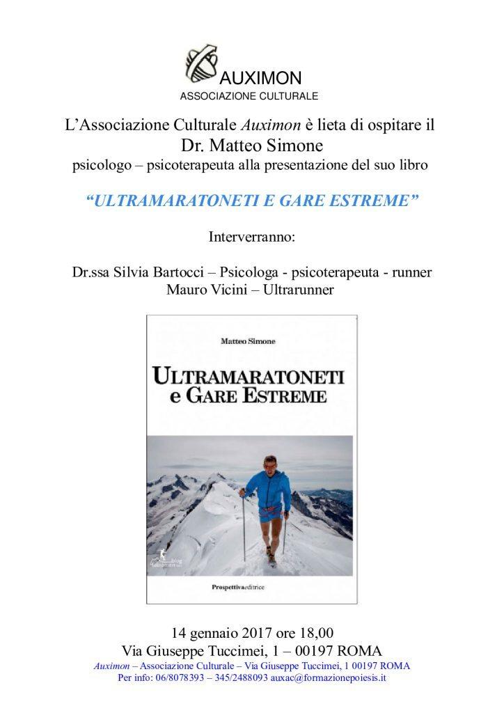 """""""Ultramaratoneti e gare estreme"""" presso l'Associazione Culturale Auximo- di  Matteo SIMONE"""