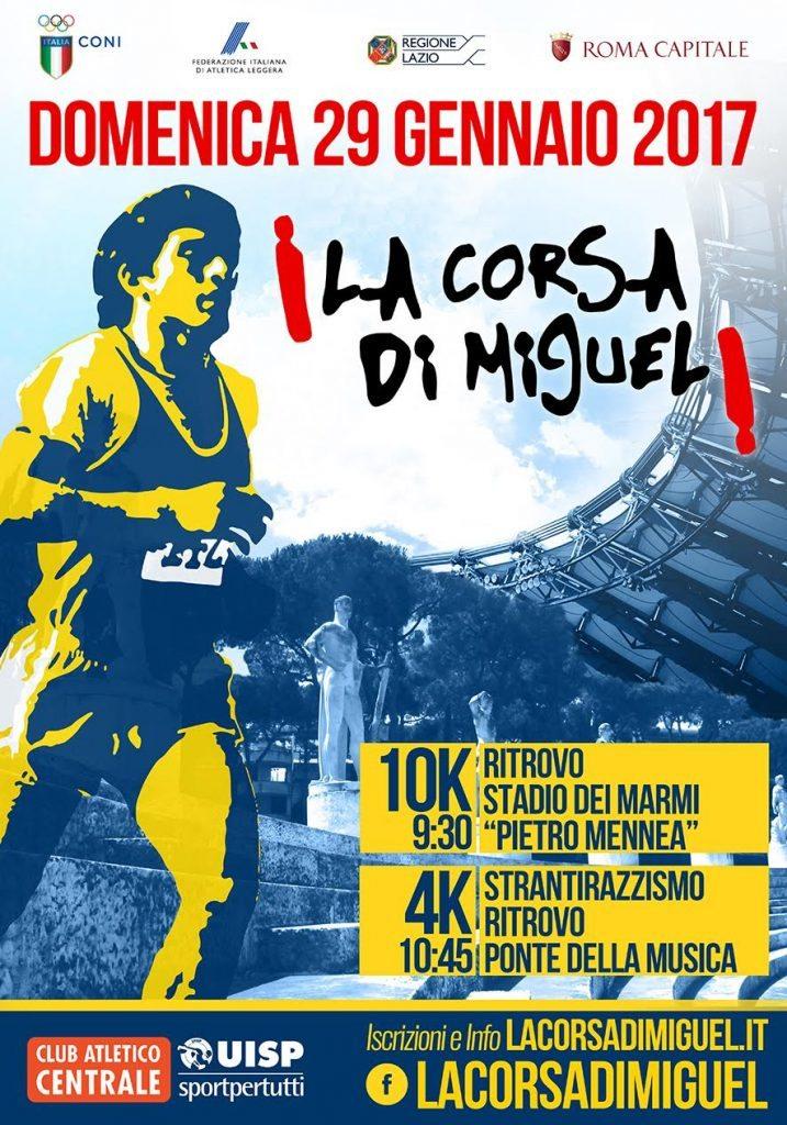 Domenica a Roma la  18^ Corsa di Miguel