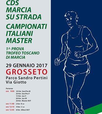 Marcia: Domenica a Grosseto i Campionati italiani assoluti di società e individuali Master