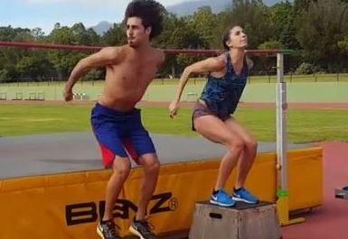 """Gianmarco Tamberi e Alessia Trost sperimentano il salto in alto """"sincronizzato""""-Il Video"""