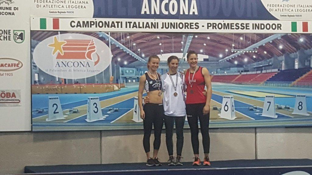 Federica Triunfo conquista il bronzo nell'asta ai Campionati Italiani di Atletica indoor di Ancona