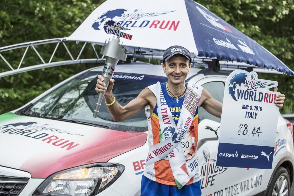 Giorgio Calcaterra per la seconda Running Class della Wings for Life World Run