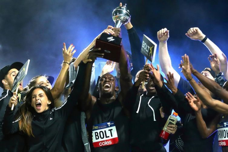 Usain Bolt vince il Nitro Athletics di Melbourne