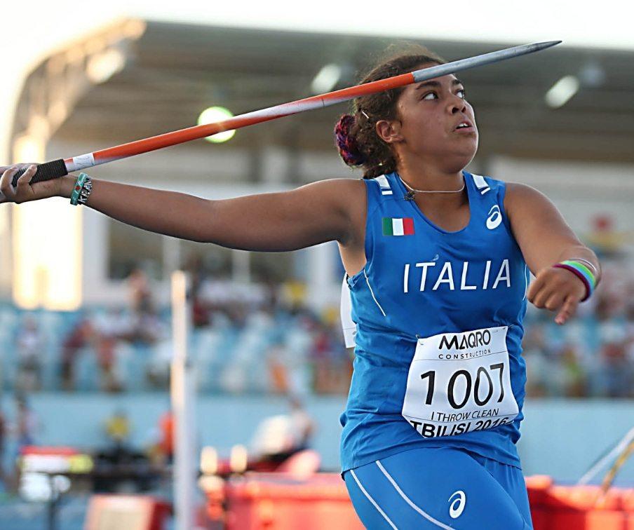Carolina Visca record italiano under 20 nel giavellotto ad Halle in Germania