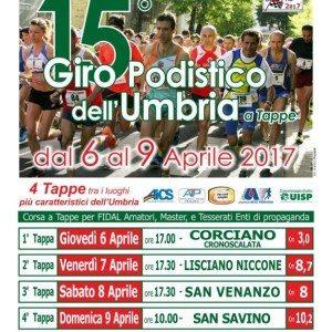 In Umbria torna il Giro Podistico  a Tappe
