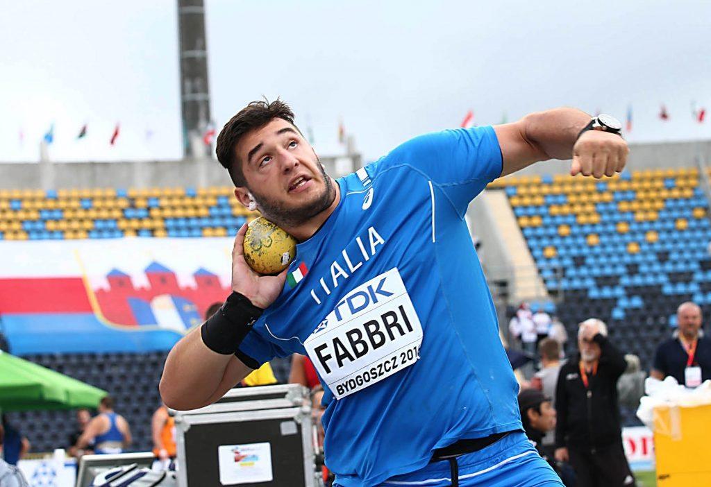 Leonardo fabbri nel peso arriva al personale con m.18,46