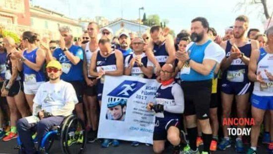 Michele Scarponi ricordato nella  Conero Running nelle sue Marche