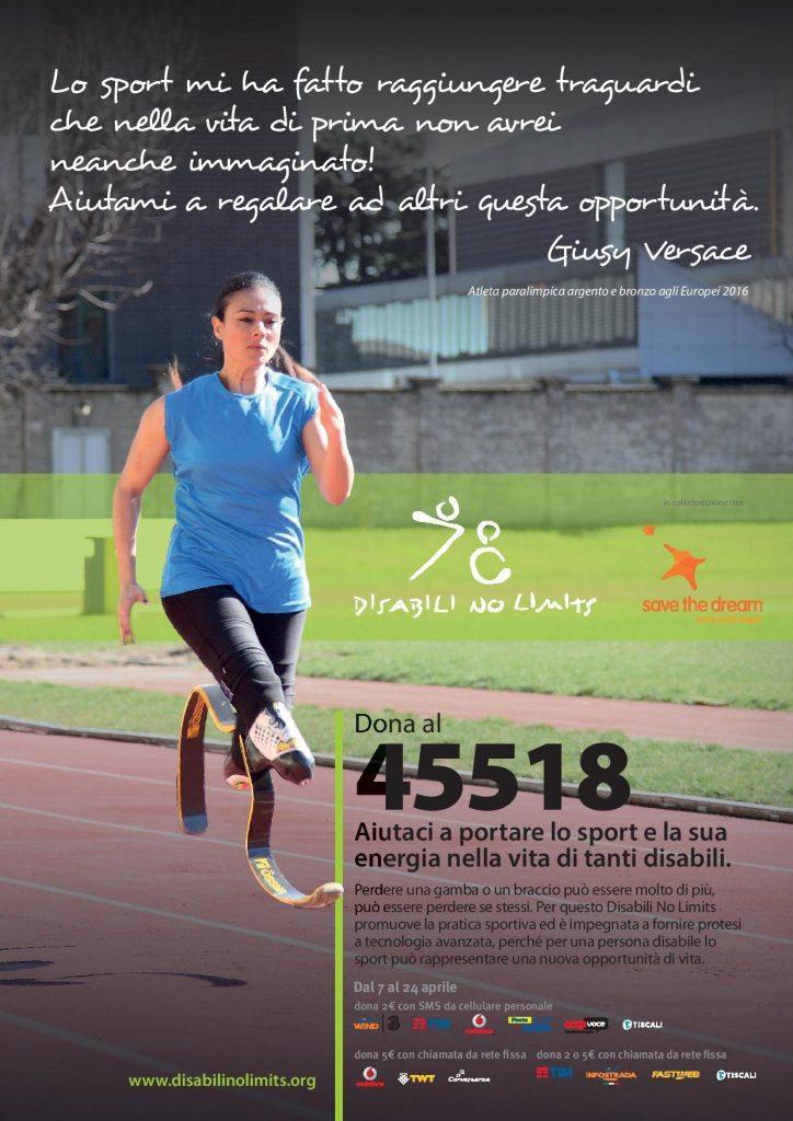"""Disabili No Limits, la onlus di Giusy Versace regala un """"sogno sportivo"""" ai ragazzi con disabilità"""